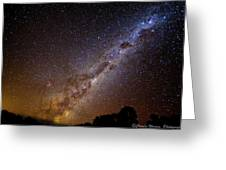 Milky Way Down Under Greeting Card