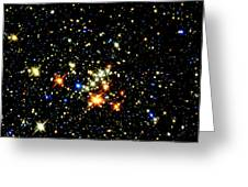 Milky Way Star Cluster Greeting Card