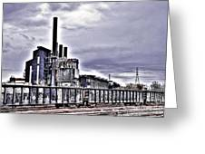 Mill And Tracks Greeting Card