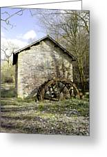 Mill And Water-wheel Near Ashford-in-the-water Greeting Card