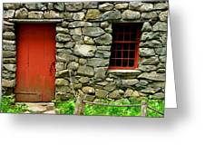 Mill Door And Window Greeting Card