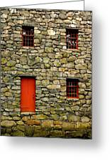 Mill House Over Stream Greeting Card