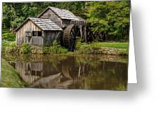 Mill Pond Reflection Greeting Card