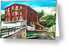 Millbury Mill Greeting Card by Scott Nelson