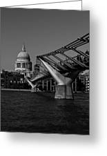 Millenium Bridge And St Pauls Cathedral Greeting Card