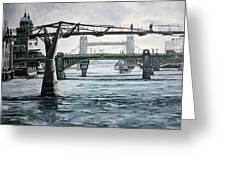 Millennium Bridge London Greeting Card