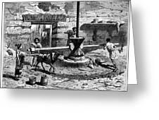 Milling Flour, Historical Artwork Greeting Card