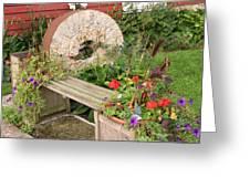 Milling Stone Flower Garden Greeting Card