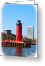 Milwaukee Harbor Lighthouse Greeting Card