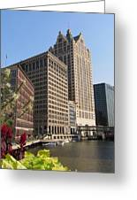 Milwaukee River And Skywalk Greeting Card