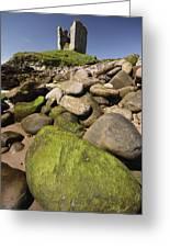 Minard Castle And Rocky Beach Minard Greeting Card