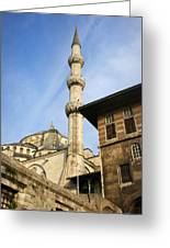Minaret Of The Blue Mosque Greeting Card