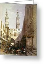 Minarets And Grand Entrance Of The Metwaleys At Cairo Greeting Card