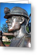 Miner Statue Greeting Card