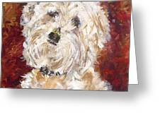 Mini Doodle Portrait Greeting Card by Karen Ahuja