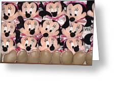 Minnie Mouse On A Shelf 2 Greeting Card