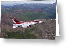 Minute Men Paint Scheme On An F-16 Greeting Card