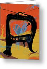 Miro Andmax Watch Lucy Greeting Card by Russell Pierce