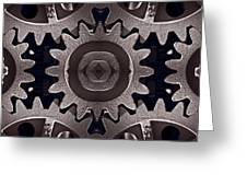 Mirror Gears Greeting Card by Steve Gadomski