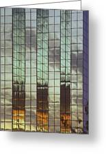 Mirrored Building Greeting Card