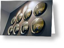 Mirrors Mirrors More Mirrors Greeting Card by Kantilal Patel