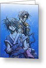 Misao And Aoshi Greeting Card