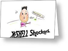 Mishell Shocked Greeting Card
