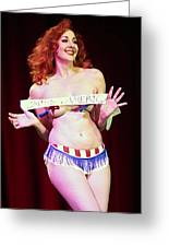 Miss America Greeting Card