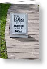 Miss Karen's Greeting Card