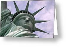 Miss Liberty Greeting Card