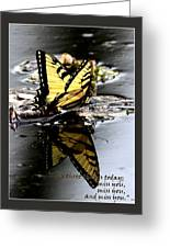 Missing You - Butterfly Greeting Card