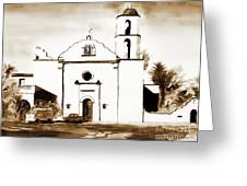 Mission San Luis Rey In Sepia Greeting Card by Kip DeVore