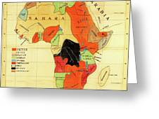 Missionary Map Of Africa Greeting Card
