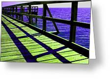 Mississippi  Pier - Ver. 7 Greeting Card