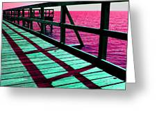 Mississippi  Pier - Ver. 9 Greeting Card