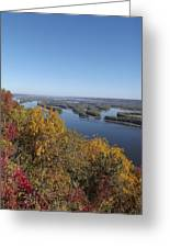 Mississippi River Fall Greeting Card