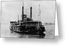 Mississippi Steamboat, 1926 Greeting Card