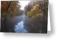 Mist Along The Wissahickon Greeting Card