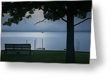 Mist On The Lake Greeting Card by Steven Ainsworth