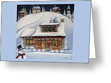 Mistletoe Cottage Greeting Card