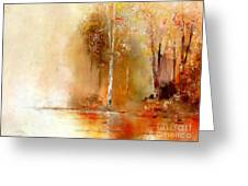 Misty Autumn Morn Greeting Card