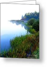 Misty Morning Big Ditch Lake Greeting Card