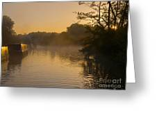Misty Morning On The Grand Union Canal Greeting Card