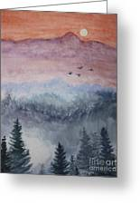 Misty Mountain Greeting Card by Terri Maddin-Miller