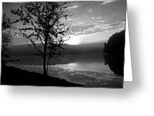 Misty Reflections Bw Greeting Card