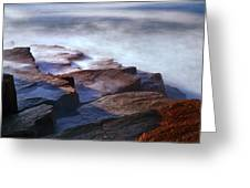 Misty Tide At Monument Cove Greeting Card
