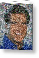 Mitt Romny President Button Mosaic Greeting Card