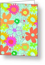 Mixed Flowers Greeting Card by Louisa Knight