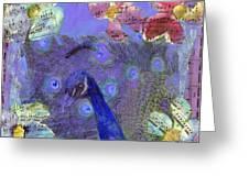 Mixed Media Peacock Art - Gipsy Rondo Greeting Card