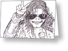 MJ Greeting Card by Rajan V